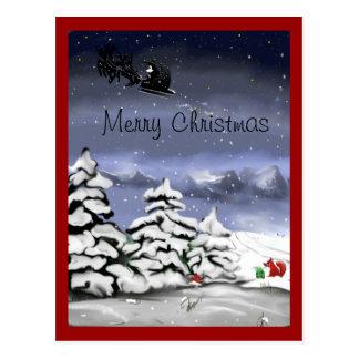 Weihnachtsgruss, Geschenk für den Fuchs Postkarte