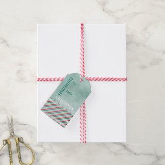 Weihnachtsgruß-grüne Feriengeschenk-Umbauten Geschenkanhänger
