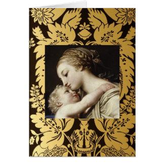Weihnachtsgruß-Karte Madonna und Kind Karte