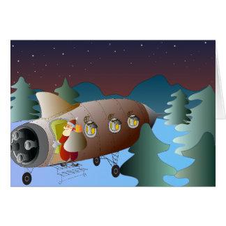 Weihnachtsgruß-Karte Moonrocket Karte