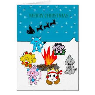 Weihnachtsgruß mit Annenikobu u. Freunden Karte