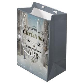 Weihnachtsgruß-mittlere Geschenk-Tasche Mittlere Geschenktüte