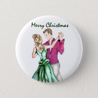Weihnachtsgruß Runder Button 5,7 Cm