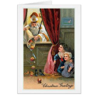 """""""Weihnachtsgruß-"""" Vintage Weihnachtskarte Karte"""