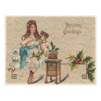 Weihnachtsgruß-Vintage Weihnachtspostkarte Postkarte