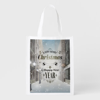 Weihnachtsgruß-wiederverwendbare Einkaufstüte Wiederverwendbare Einkaufstasche