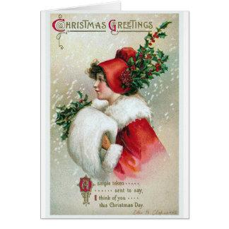 """""""Weihnachtsgrüße"""" Vintag Karte"""