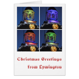 Weihnachtsgrüße von Lymington Karte