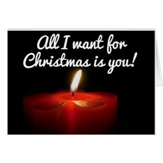 Weihnachtsgrüße zu Ihnen Karte