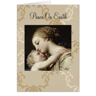 Weihnachtsgrußkarte Mary und Kind Karte