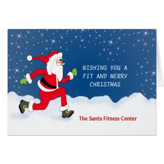 Weihnachtsgrußkarte mit Joggen-Sankt-Schnee Karte