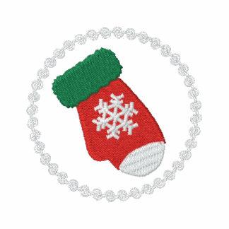 Weihnachtshandschuh gesticktes Shirt Sweatshirts