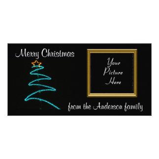 Weihnachtsheller Baum Individuelle Photo Karte