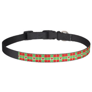 Weihnachtsherz-großes Hundehalsband Haustierhalsband