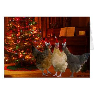 Weihnachtshühner Karte