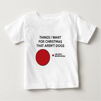 Weihnachtshund Baby T-shirt