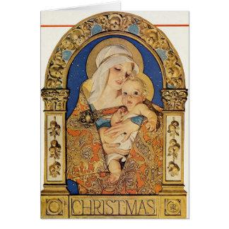 Weihnachtsillustration 1927 durch J.C. Leyendecker Karte
