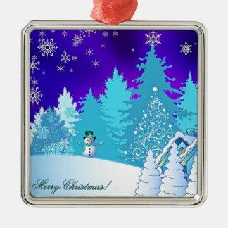 Weihnachtsillustration Silbernes Ornament