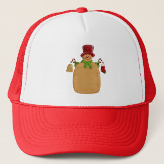 Weihnachtsingwer-Brot-Mann-Fernlastfahrer-Hut Truckerkappe