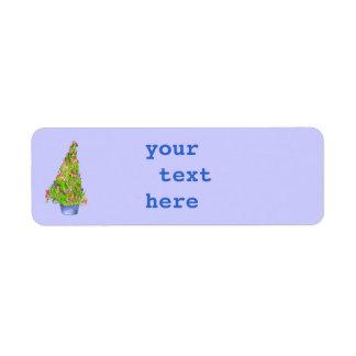 Weihnachtsiris-Adressen-Etikett