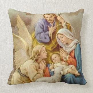 WeihnachtsJungfrau Mary, St Joseph, Jesus u. Engel Kissen