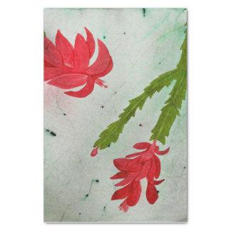 Weihnachtskaktuss-Aquarell Seidenpapier
