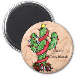 Weihnachtskaktuss-Magnet Kühlschrankmagnete