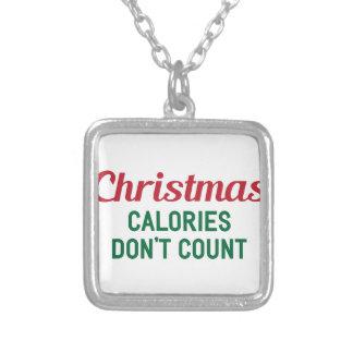 Weihnachtskalorien Versilberte Kette