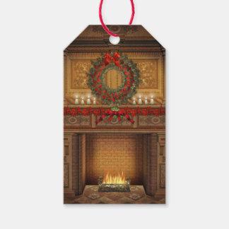 Weihnachtskamin-Satz Geschenk-Umbauten Geschenkanhänger