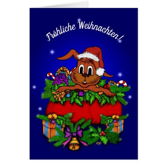 Weihnachtskaninchen , Fröhliche Weihnachten! Karte
