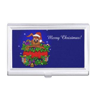 Weihnachtskaninchen Visitenkarten Dose