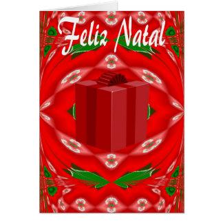 Weihnachtskarte auf portugiesisch karte