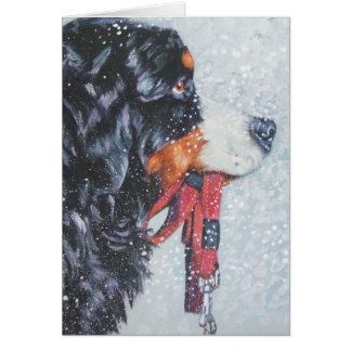 Weihnachtskarte Bernese Gebirgshund Karte