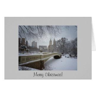 Weihnachtskarte - Bogen-Brücken-Central Park Karte