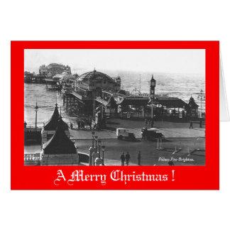 Weihnachtskarte, Brighton-Pier Karte