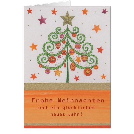 Weihnachtskarte Bunter Tannenbaum Karte