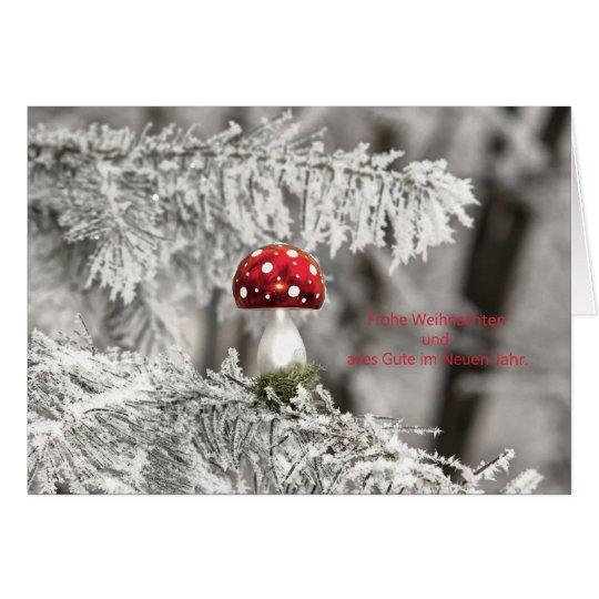 Weihnachtskarte Christbaum Fliegenpilz Karte