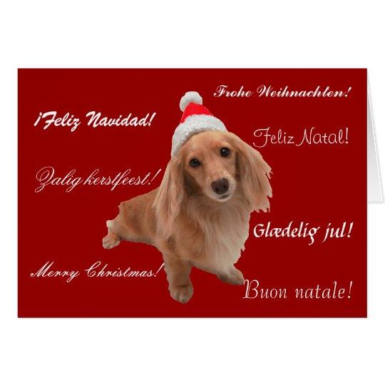"""Weihnachtskarte """"Dackel"""" Weihnachten Karte"""