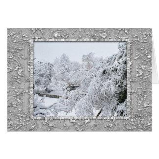 Weihnachtskarte des Schnee-6095 Karte