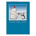 Weihnachtskarte: Eisbär und Pinguin Grußkarten