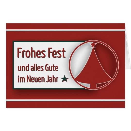 """Weihnachtskarte """"Frohes Fest"""" schlicht Karte"""