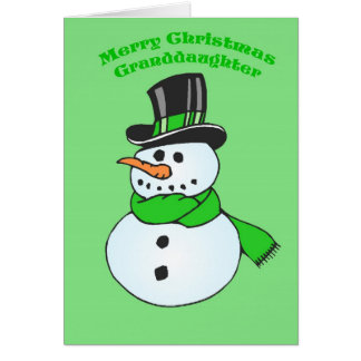 Weihnachtskarte für Enkelin Karte