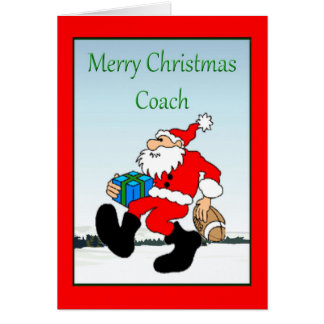 Weihnachtskarte für Fußball-Trainer Grußkarte