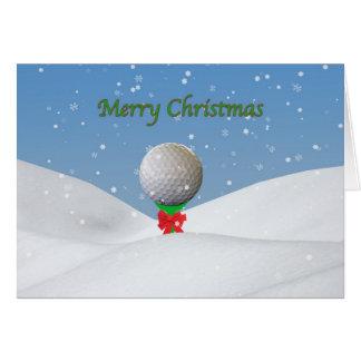 Weihnachtskarte für Golfspieler Karte