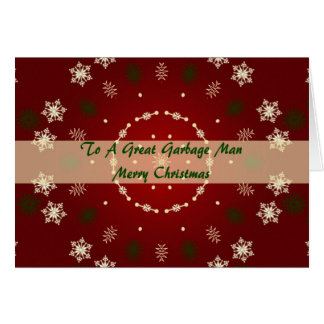 Weihnachtskarte für Müllmann Karte