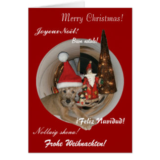 """Weihnachtskarte """"Irish Terrier"""" Grußkarte"""