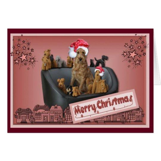 Weihnachtskarte Irish Terrier Karte