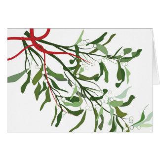 Weihnachtskarte - Mistelzweig Karte