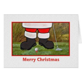 Weihnachtskarte mit dem Golf spielen von Sankt Karte