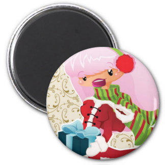 Weihnachtskarte mit kleinem Finger Kühlschrankmagnet